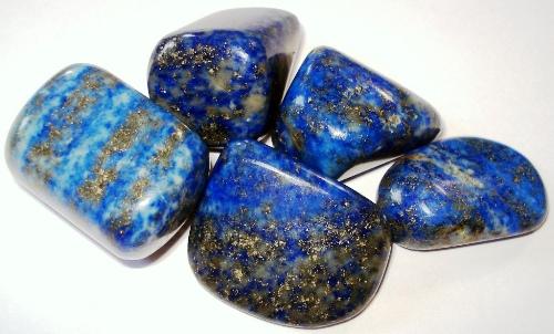 Lapis Lazuli gemstone tumbled