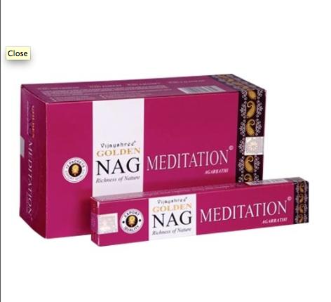 Golden Nag Meditation Incense Sticks