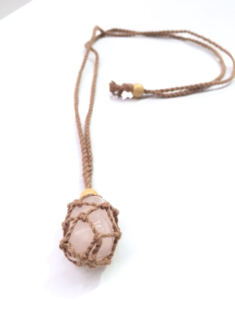 Woven Necklace for Tumbled Stones Natural