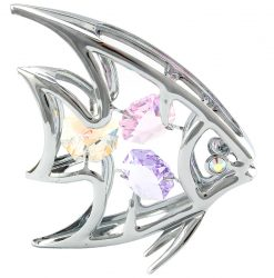 Crystocraft Angel Fish - Silver