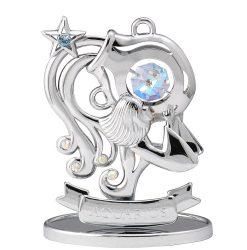 Crystocraft Zodiac - Aquarius - Silver
