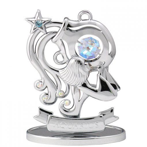 Crystocraft Zodiac – Aquarius – Silver