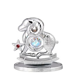 Crystocraft Zodiac - Aries - Silver