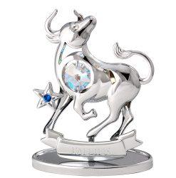 Crystocraft Zodiac - Taurus - Silver