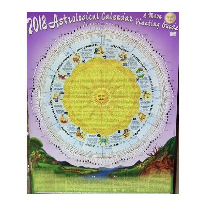 2018 Astrological Moon Calendar & Planting Guide