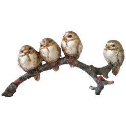 4 Birds on Branch