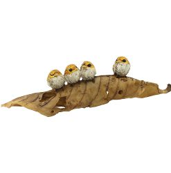 4 Birds on Leaf
