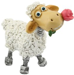 Standing Sheep with Flower