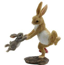 Rabbits Swinging