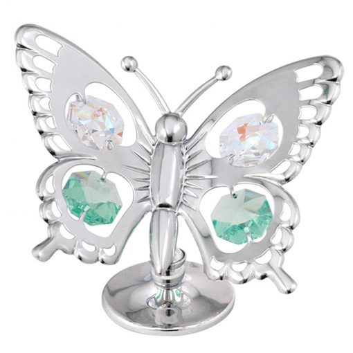 Crystocraft Swallow Tail Butterfly – Silver