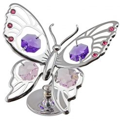 Crystocraft Tiger Butterfly - Silver