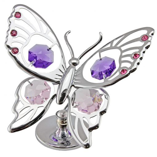 Crystocraft Tiger Butterfly – Silver