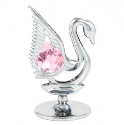 Crystocraft Mini Swan - Silver/Pink