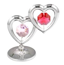 Crystocraft Twin Hearts - Silver