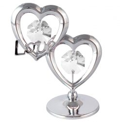 Crystocraft Twin Hearts Love - Silver
