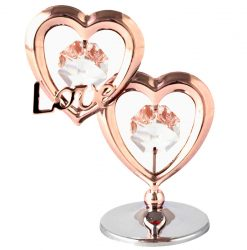 """Crystocraft Twin Hearts """"Love"""" - Rose Gold"""