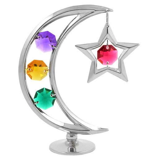 Crystocraft Moon and Star – Silver