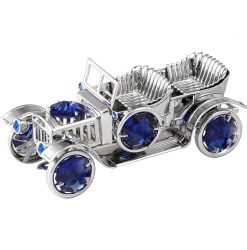 Crystocraft Vintage Car - Silver/Blue
