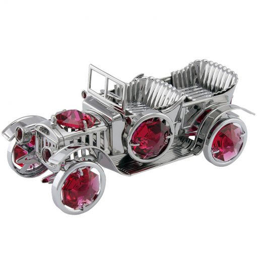 Crystocraft Vintage Car – Silver/Red