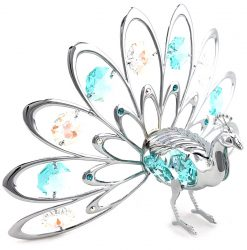 Crystocraft Fan-Out Peacock - Silver/Blue