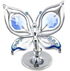 Crystocraft Ulysses Butterfly - Silver/Blue