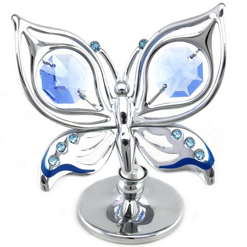 Crystocraft Ulysses Butterfly – Silver/Blue