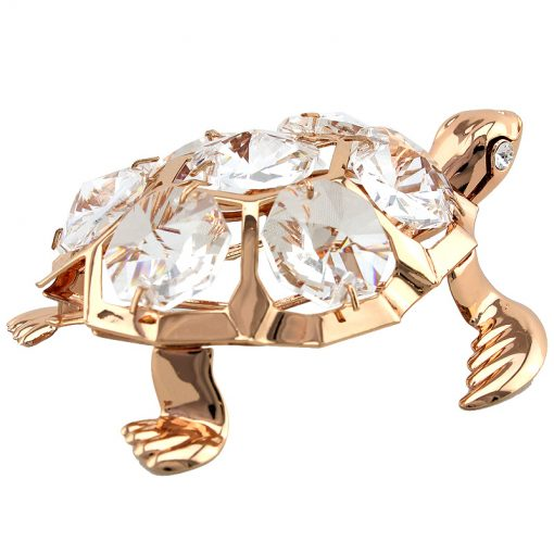 Crystocraft Turtle – Rose Gold