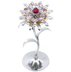 Crystocraft Giant Sunflower - Silver