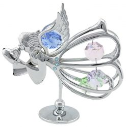 Crystocraft - Graceful Angel with Heart - Silver