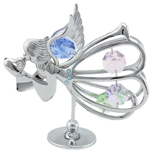 Crystocraft – Graceful Angel with Heart – Silver
