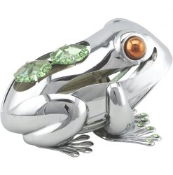 Crystocraft Lucky Frog - Silver