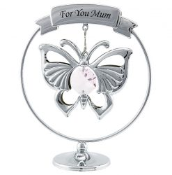 Crystocraft Emperor Butterfly - For You Mum - Silver