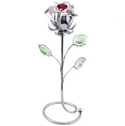 Crystocraft Rose - Silver