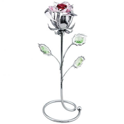 Crystocraft Rose – Silver