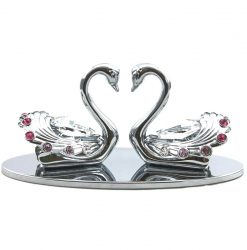 Crystocraft Swan Pair - Silver