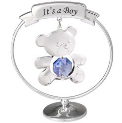 """Crystocraft Teddy """"It's a Boy"""" Mobile - Blue"""