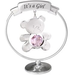 "Crystocraft Teddy ""It's a Girl"" Mobile - Pink"