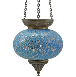 Large Hanging Mosaic T-Light - Turquoise