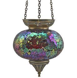 Large Hanging Mosaic T-Light - Fuchsia