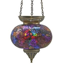 Large Hanging Mosaic T-Light - Rainbow