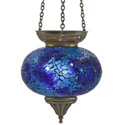 Large Hanging Mosaic T-Light - Blue