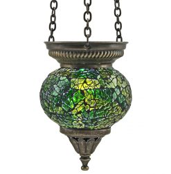 Small Hanging Mosaic T-Light - Green