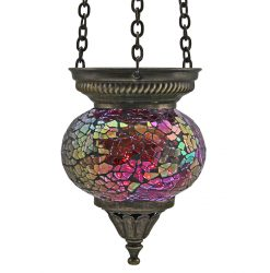 Small Hanging Mosaic T-Light - Fuchsia