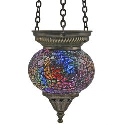 Small Hanging Mosaic T-Light - Rainbow