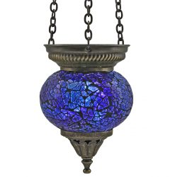 Small Hanging Mosaic T-Light - Blue