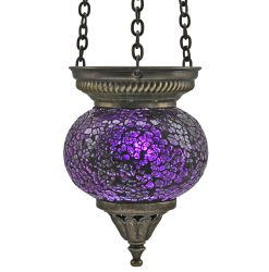 Small Hanging Mosaic T-Light - Purple