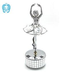 Crystocraft Ballerina Music Box - Silver